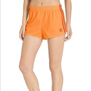 Adidas Women originals 3 Stripe shorts orange